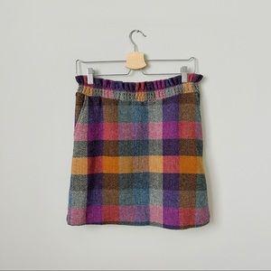 {Southern Proper} Wool Plaid Mini Skirt